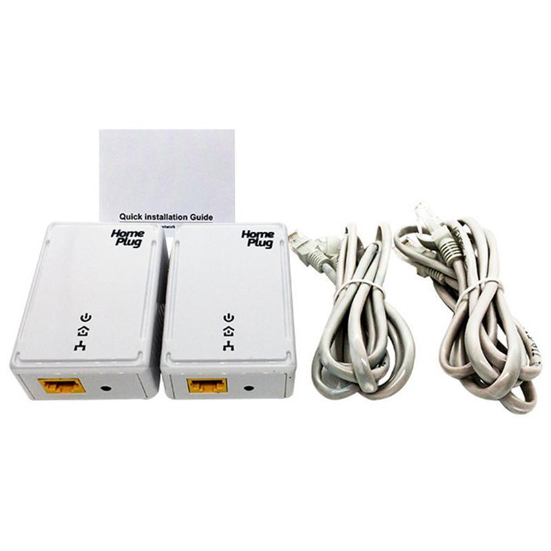 Kit d'adaptateur Ethernet 500 M prise domestique pont Mini haute vitesse ligne électrique adaptateurs réseau prend en charge IPTV US UK EU Standard 2