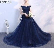 femmes soirée bleu robe