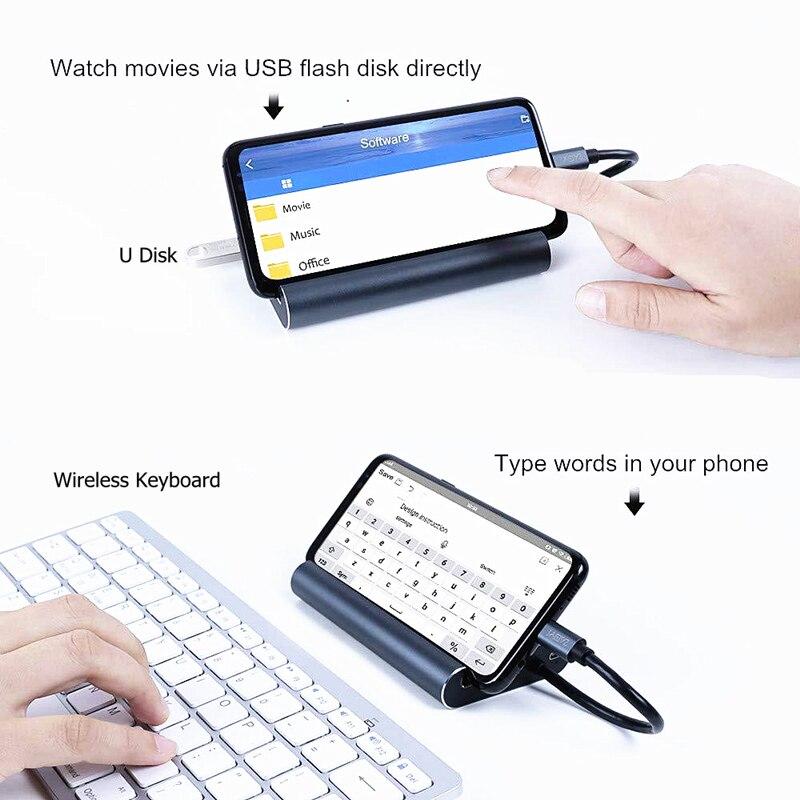 Rankman Type-C to RJ45 Ethernet HDMI VGA Adapter USB3.0 USB-C PD Charging Hub Converter for TV MacBook Galaxy S8 Huawei P20