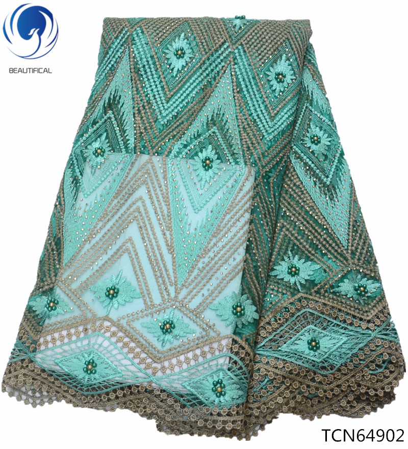BEAUTIFICAL african lace green lace fabric beaded lace fabric green african fabric embroidery design for women TCN649BEAUTIFICAL african lace green lace fabric beaded lace fabric green african fabric embroidery design for women TCN649