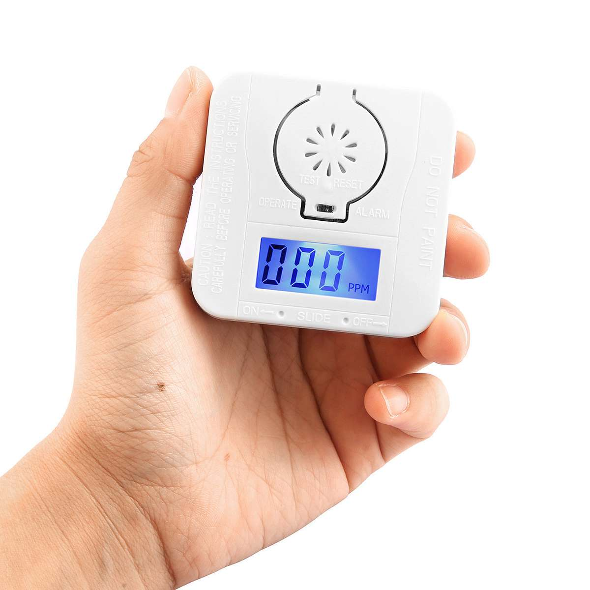 CO Monóxido De Carbono Envenenamento Alarme Sensor de Gás Aviso Detector de Fumaça Segurança Alarme Envenenamento LCD Detectores Fotoelétricos