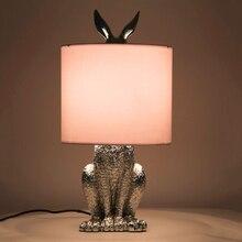 Post-modern Masked Rabbit Resin LED Table Light Retro Industrial Desk Bedroom Bedside Study Restaurant Decorate Lamp