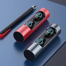 Беспроводные Bluetooth наушники водостойкая гарнитура отпечаток пальца сенсорный поворот закрытый Мультифункциональный спортивный стерео наушник с микрофоном