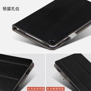 """Case skóra bydlęca dla Huawei Mediapad T5 8.0 pokrywa ochronna prawdziwej skóry T58 Tablet JDN2-W09HN AL00HN 8 """"Protector przypadki rękaw"""