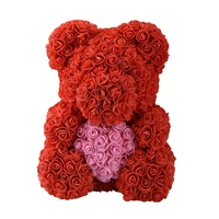 Bear Of Roses Artificial Flowers Home Wedding Festival Diy Cheap Wedding Decoration Gift Wreath Crafts