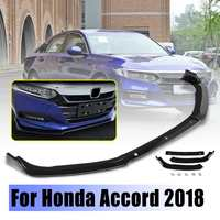 3pcs 1Set Front Bumper Chin Lip Spoiler Wing Guard Protect Body Kit for Honda for Accord 18 Auto Exterior Part Spoiler for Honda