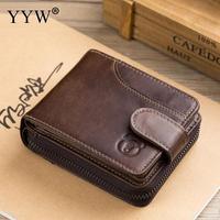 BULLCAPTAIN 2019 Genuine Leather Men Wallets Fashion Vintage Male Short Mix Id Card Wallet billetera Men's Wallet Coin Purse