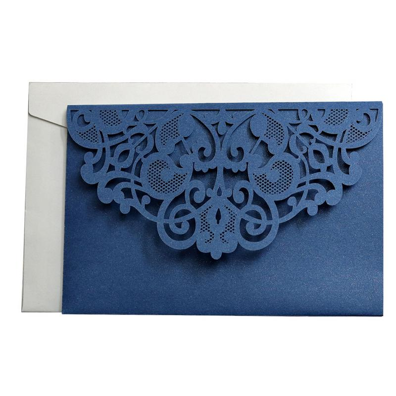 Us 2 3 40 Off 10pcs Halloween Party Invitations Laser Cut Wedding Invitations Cards Tri Fold Lace Business Invitation Cards Party Decoration In
