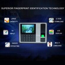 Биометрическая дактилоскопическая система машина для регистрации паролей сотрудник проверка Регистраторы 4 дюйма TFT ЖК-дисплей Экран DC 5V рабочего времени