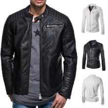 Локоть европейский и американский стиль мужская кожа супер короткие мотор 2019 новый кожаный студент куртка Дикий молния рубашка
