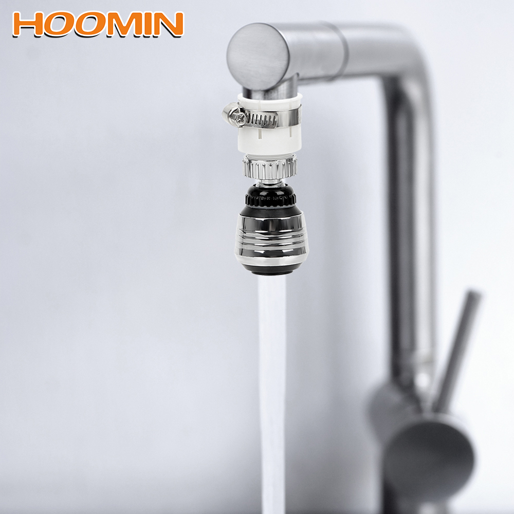 HOOMIN Faucet Nozzle Filter Adapter 360 Degree Rotate Kitchen Bathroom Tool Blister Faucet Accessories Water Saving