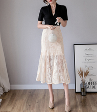 Spring and summer new style Korean version of the sweet temperament fishtail  skirt