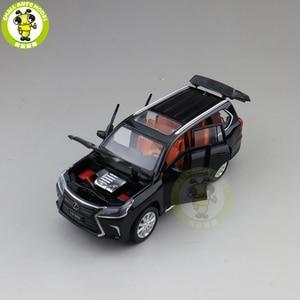 Image 4 - 1/32 JACKIEKIM LX570 SUV Diecast Model CAR Toys for kids Sound Lighting Pull Back Car Boy Girl gifts