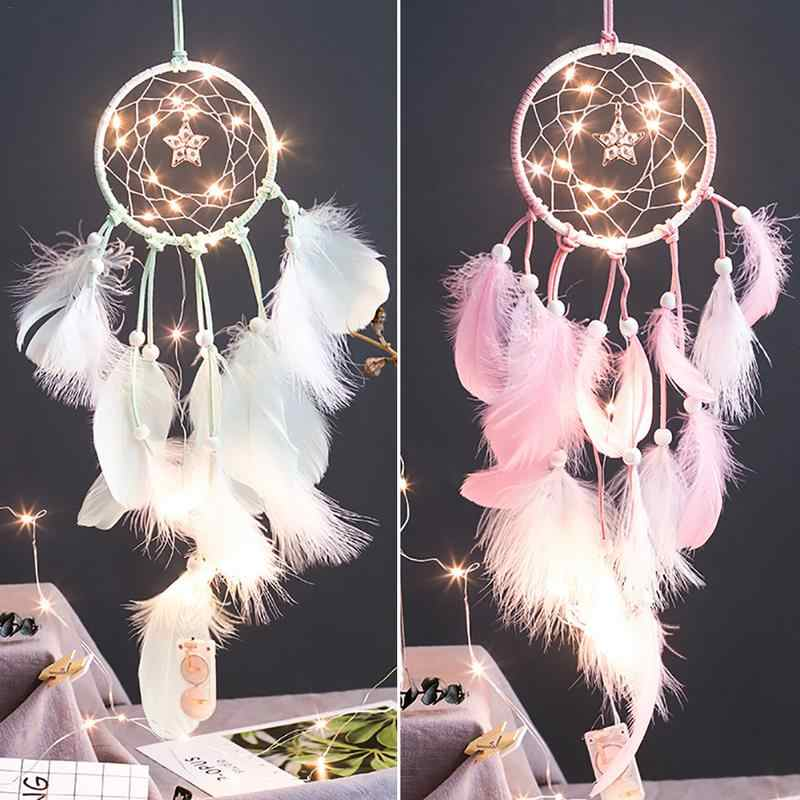 INS Girl Style String Light Simple Fresh Artistic Style Dreamcatcher Dream Catcher Nordic Nursery Decor