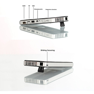 Image 3 - DLP 100Wm MINIโปรเจคเตอร์Android Beamer Built In WIFI Bluetooth,2000MAhแบตเตอรี่HDMIสนับสนุน 1080P,แบบพกพาโฮมเธียเตอร์ (EU Plug)
