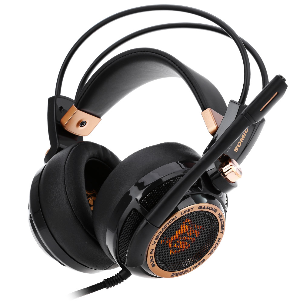 Somic Headphone G941 Active Noise Cancelling 7.1 Virtual Surround Sound USB with Mic Vibrating Function Gaming Headset somic g938 7 1ch gaming headset usb wired game headphone with mic