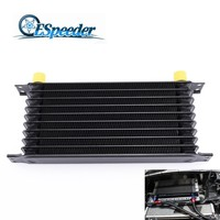 ESPEEDER Universal 10 Row Black AN 10 10 AN Aluminum Transmission Cooler Racing Oil Cooler Raditor Kit Engine Oil Cooler|Oil Coolers|Automobiles & Motorcycles -
