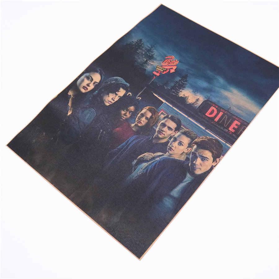 Riverdale Vintage plakat filmowy dla bar cafe salon drukuje dekoracja plakatów retro malarstwo salon 45.5x31.5cm