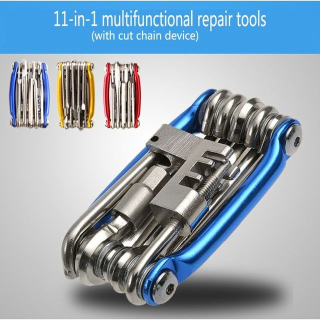 11 in 1 Bicycle Mountain Road Bike Tool Set Bicycle Cycling Multi Function Repair Tools Kits Wrench Screwdrive Chain Cutter