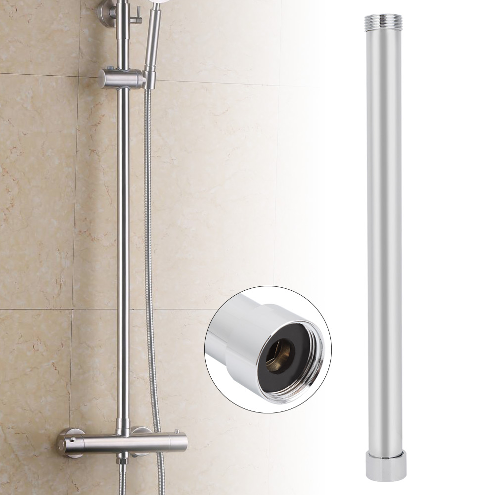 Round Shower Arm 4inch Stainless Steel Shower Extension Arm with Chrome Plating for Bathroom Accessory