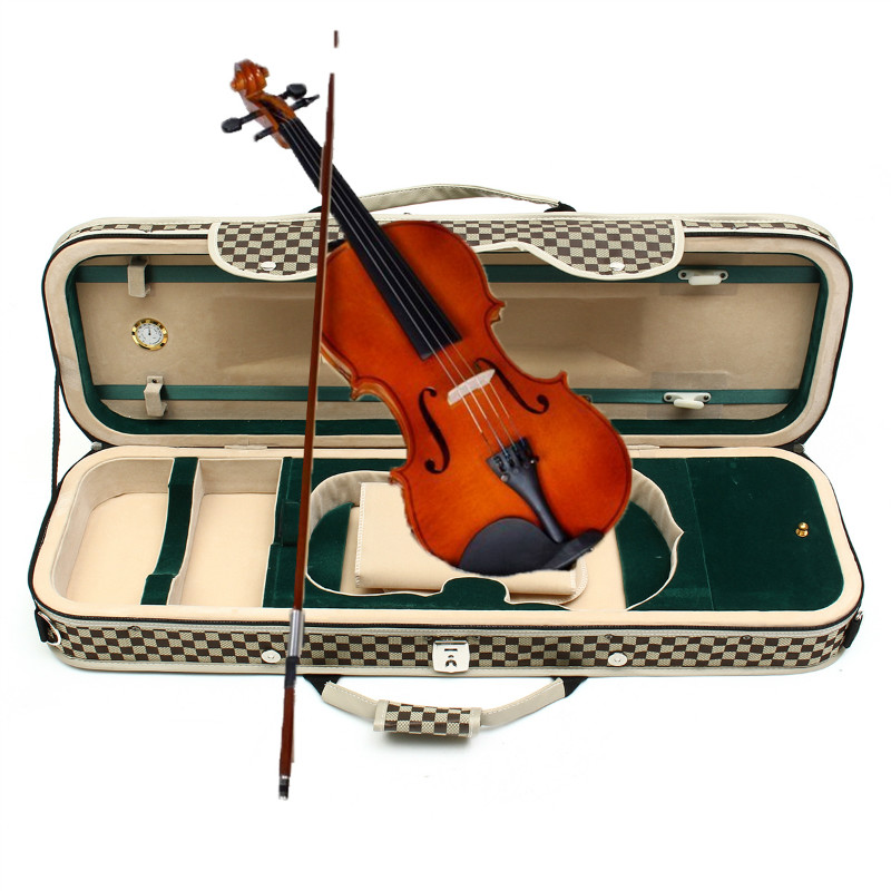Portable Violin Bow Case With Humidity Table Straps Locks Waterproof Comfortable Stringed Instruments Accessories