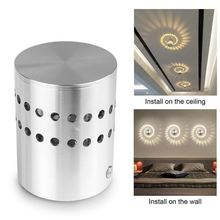 Creative Aluminum Wall Lamp 3W LED Light Spiral Hole Art Ceiling Decorate Surface Mount Sconce