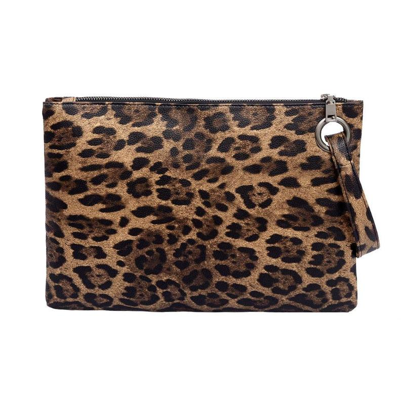 Casual Women Animal Print Clutch Female Fashion Design PU Leather Wallet Messenger Bag Coin Purse Ladies Elegant Handbag Z70