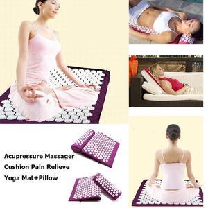 Image 4 - Acupressure Massager Mat Set Head Neck Back Body Foot Cushion Massage Pad Relieve Stress Pain Spike Mat Yoga Mat with Pillow