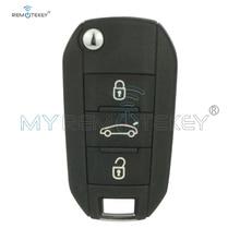 цена на Remtekey OEM folding key 3 button 433Mhz PCF7941 ID46 chip for Peugeot 508 2014 2015
