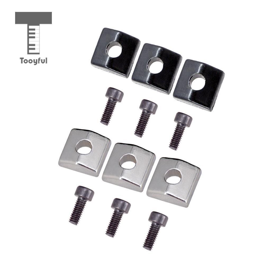 tooyful 6pcs guitar locking nut clamp screws for electric guitar tremolo bridge parts in guitar. Black Bedroom Furniture Sets. Home Design Ideas
