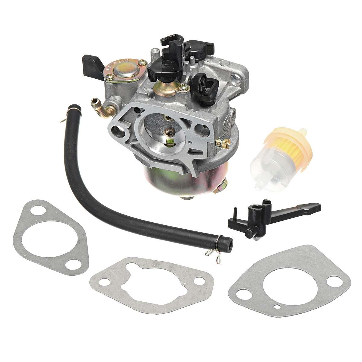Карбюратор уплотнитель карбюратора топливный фильтр переключатель комплект для Honda GX390 13H P двигатели заменяет 16100-ZF6-V01 двигатель двигателя ...