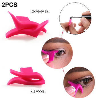 1 Pair Portable Professional Simple Soft Makeup Tool Silicone Easy To Wear Waterproof Wing Seals Cosmetic Models Eyeliner Stamp