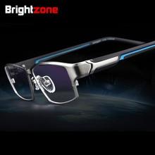 Brightzone Mode Volledige Rand Ultra lichtgewicht Flexibele IP Elektronische Plating Metalen Titanium Velg Bril Mannen Brillen Frame