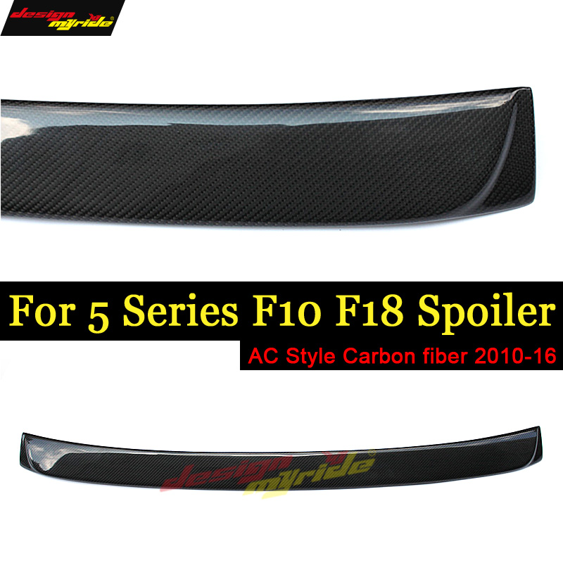 For BMW F10 5 Series 520i 525i 528i 530i 535i Carbon Fiber M5 AC style Rear Roof spoiler wing 2010-16