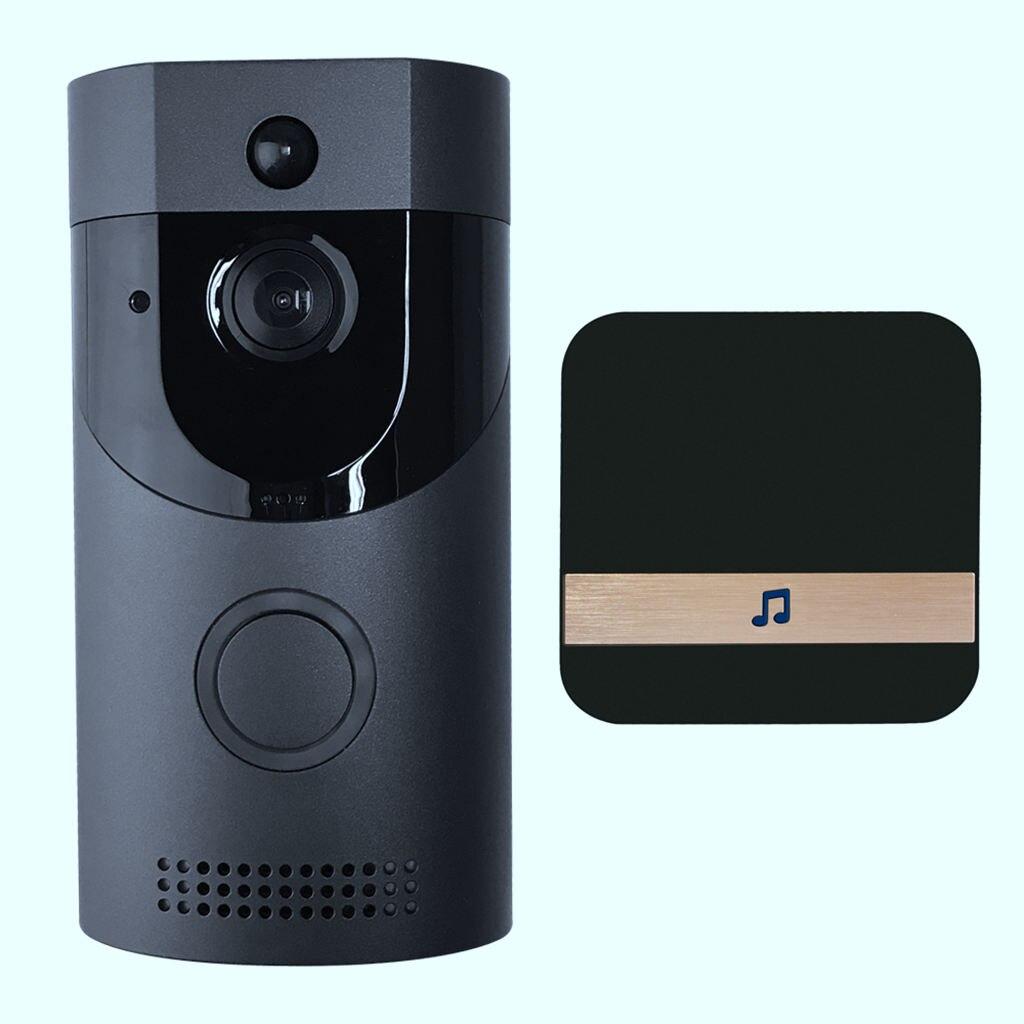 Wireless Wifi Security Waterproof Doorbell Smart Video Door Phone Visual Recording With Plug-in Chime Remote Home Monitoring U 100% Original