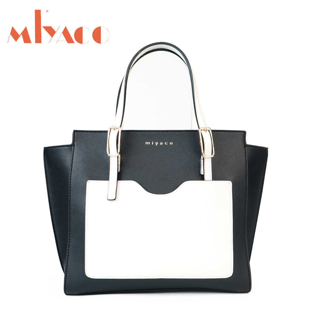 80b769e6b568 Miyaco Women Handbag Trapeze Bag Famous Brand Female Shoulder Bag Messenger  Bags PU Leather Tote Bag