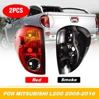 for Mitsubishi L200 Triton Colt 2005 2016 Pickup 1 Pair Car Smoke Taillights Rear Lamp Tail Lights BrakeWith Wire Replacement