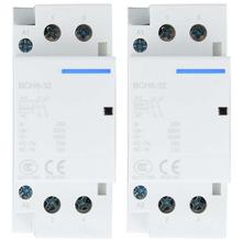 цена на Household ac Modular contactor 2P 32A Low Power Consumption Household DIN Rail AC Contactor 1NO1NC 50/60HZ Electrical Equipment