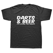 DARTS & BEER Funny Tee Xmas Birthday Gift Mens New Top T SHIRT