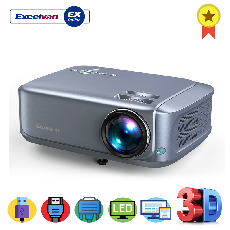 Stable Excelvan Bl68 Home Cinéma Projecteur Prend En Charge Rouge-bleu 3d 1080 P Vidéos Hdmi Vga Usb Interfaces Anti-poussière Net Disponible