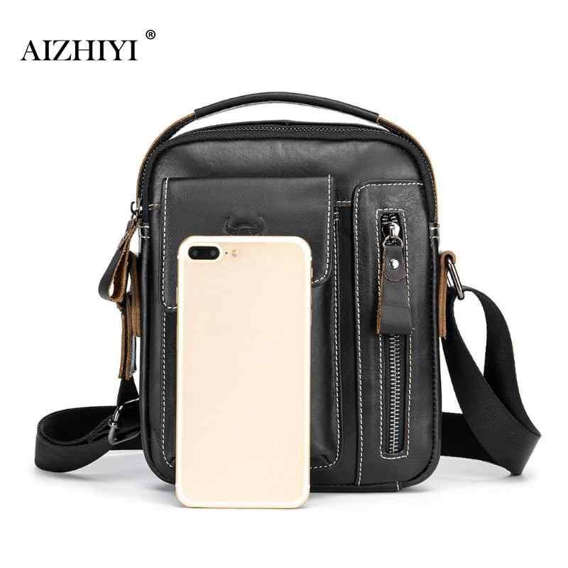 905f24d3c8 ... Bull Captain Men Genuine Leather Messenger Crossbody Bag Casual Fashion  Male Sling Bag Business Handbag Shoulder ...