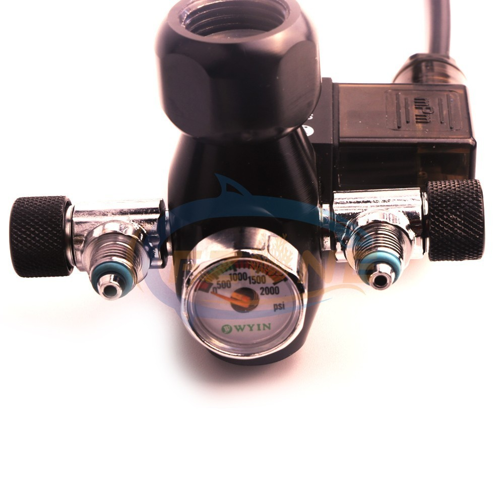 Acuario Wyin doble salida calibre CO2 regulador con válvula de contador de burbujas de válvula de solenoide y Kits de instalación - 3