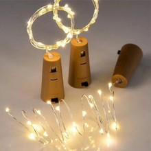 LED Copper Wire String Light Battery operated Mini Cork Garland Strip Indoor Outdoor Decorate