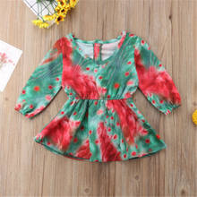 Emmababy Sweet Princess Kids Baby Girl Floral Long Sleeve Dresses Casual Top Peacock Open Party Wedding Girl Dress Drop Ship(China)