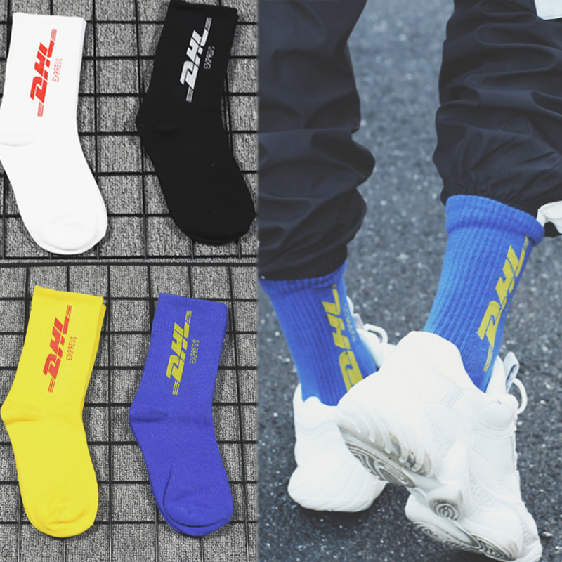 Cotton Soft White Creative Sport Black Hip Hop 1Pair Adjustable Cool Comfortable Blue Elastic Letter Novelty Yellow Outdoor