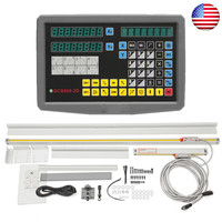 2 Axis Digital Readout & TTL Linear Scale 9x42DRO Kit for Mill Bridgeport EMD GCS900 2D Linear Glass Encoder for all Machine