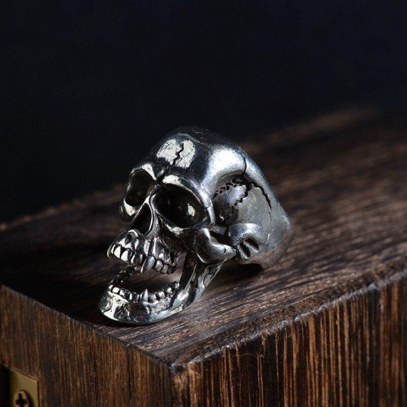 2019 Alexandrite Feminino cerf S925 Resto anciennes façons est la technologie hommes tenue l'anneau de mode ornements forme de crâne