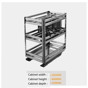 Image 3 - Accessories Organizer Mutfak Malzemeleri Stainless Steel Cuisine Cocina Cozinha Kitchen Cabinet Cestas Para Organizar Basket