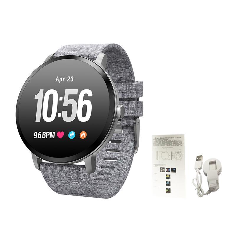 V11 Bracelet intelligent IP67 étanche verre trempé activité Fitness Tracker moniteur de fréquence cardiaque bord hommes femmes Smartwatch