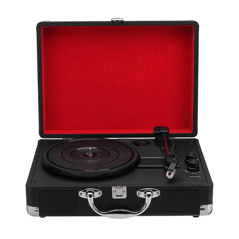 PüNktlich 3-speed Kunststoff Holz Retro 33/45/78 Rpm Bluetooth Ph/int/bluetooth 2,0 Koffer Plattenspieler Vinyl Lp Record Telefon-player Aux In Starke Verpackung Unterhaltungselektronik